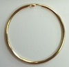 "Tube Hoop Earring-1"" GOLD"