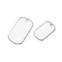 Dog Tag Charms - Two Assorted Sizes - 22 x 38mm and 28 x 50mm