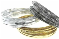 Flat Diamond Cut Aluminum Wire - 1mm x 3mm