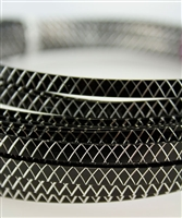 Flat Diamond Cut Aluminum Wire - 1mm x 5mm