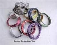 Round Diamond Cut Aluminum Wire - 12 Gauge
