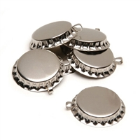 "1"" Chrome Bottle Caps with Loop"