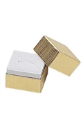 "#102 Gold Solid Top Jewelry Box- 1 1/2"" x 1 1/4"" x 1 1/2"""