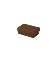"#21 Cocoa Solid Top Jewelry Box- 2 1/2"" x 1 1/2"" x 7/8"""