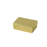 "#21 Gold Solid Top Jewelry Box- 2 1/2"" x 1 1/2"" x 7/8"""
