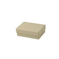"#21 Kraft Solid Top Jewelry Box- 2 1/2"" x 1 1/2"" x 7/8"""