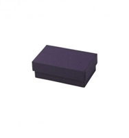 "#21 Purple Solid Top Jewelry Box- 2 1/2"" x 1 1/2"" x 7/8"""