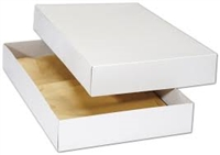 "White Two Piece Apparel Box- 17"" x 11"" x 2 1/2"""