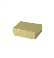 "#31 Gold Solid Top Jewelry Box- 3"" x 2 1/8"" x 5/8"""