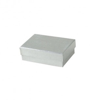 "#31 Silver Solid Top Jewelry Box- 3"" x 2 1/8"" x 5/8"""