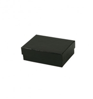 "#32 Matte Black Solid Top Jewelry Box- 3 1/8"" x 2 1/8"" x 1"""