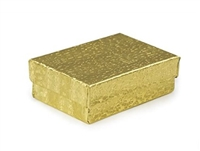 "#32 Gold Solid Top Jewelry Box- 3 1/8"" x 2 1/8"" x 1"""