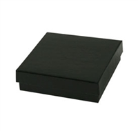 "#33 Matte Black Solid Top Jewelry Box- 3 1/2"" x 3 1/2"" x 1"""