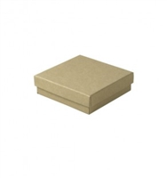 "#33 Kraft Solid Top Jewelry Box- 3 1/2"" x 3 1/2"" x 1"""