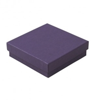 "#33 Purple Solid Top Jewelry Box- 3 1/2"" x 3 1/2"" x 1"""