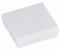 "#33 White Swirl Solid Top Jewelry Box- 3 1/2"" x 3 1/2"" x 1"""