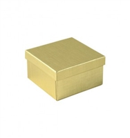 "#34 Gold Solid Top Jewelry Box- 3 1/2"" x 3 1/2"" x 2"""
