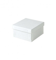 "#34 White Swirl Solid Top Jewelry Box- 3 1/2"" x 3 1/2"" x 2"""