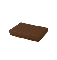 "#53 Cocoa Solid Top Jewelry Box- 5 1/4"" x 3 3/4"" x 7/8"""