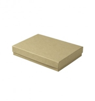"#53 Kraft Solid Top Jewelry Box- 5 1/4"" x 3 3/4"" x 7/8"""