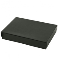 "#53 Shiny Black Solid Top Jewelry Box- 5 1/4"" x 3 3/4"" x 7/8"""