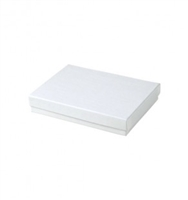 "#53 White Swirl Solid Top Jewelry Box- 5 1/4"" x 3 3/4"" x 7/8"""