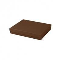 "#65 Cocoa Solid Top Jewelry Box- 6"" x 5"" x 1"""