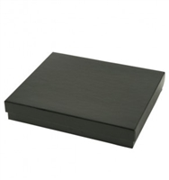 "#65 Shiny Black Solid Top Jewelry Box- 6"" x 5"" x 1"""