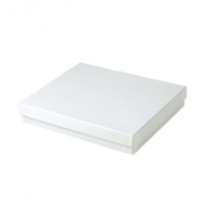 "#65 White Swirl Solid Top Jewelry Box- 6"" x 5"" x 1"""