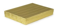 "#75 Gold Solid Top Jewelry Box- 7"" x 5 1/2"" x 1"""