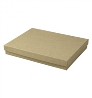 "#75 Kraft Solid Top Jewelry Box- 7"" x 5 1/2"" x 1"""