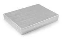 "#75 Silver Solid Top Jewelry Box- 7"" x 5 1/2"" x 1"""