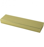 "#82 Gold Solid Top Jewelry Box- 8"" x 2"" x 7/8"""