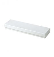 "#82 White Swirl Solid Top Jewelry Box- 8"" x 2"" x 7/8"""
