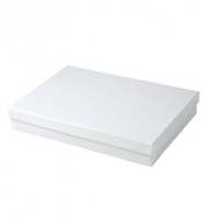 "#85 White Swirl Solid Top Jewelry Box- 8"" x 5 1/2"" x 1 1/4"""