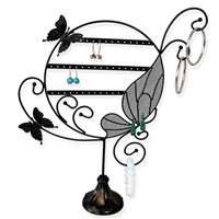 Metal Butterfly Earring Display
