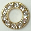 Small Channel Set Ring-12mm-CRYSTAL/GOLD