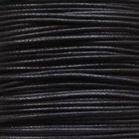 Waxed Cotton Cord - 2 MM - 288 Yard Spool - Black