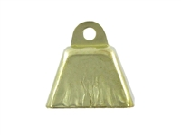 "7/8"" Gold Cow Bell"