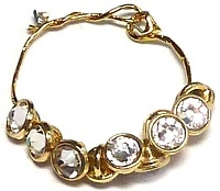 Crystaletts® with Swarovski-3mm- Crystal/Gold