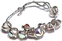 Crystaletts® with Swarovski-3mm- Crystal AB/Silver