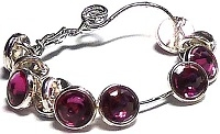 Crystaletts® with Swarovski-3mm- Fuchsia/Silver