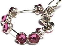 Crystaletts® with Swarovski-3mm- Rose/Silver