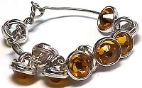 Crystaletts® with Swarovski-3mm- Sunflower/Silver
