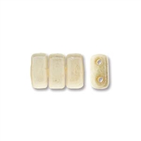 CzechMates 2-Hole Brick Bead - 3mm x 6mm - Opaque Luster Champagne