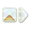 12mm Czech 2-hole Pyramid Bead- Crystal AB