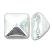 12mm Czech Pyramid Bead- Crystal Labrador