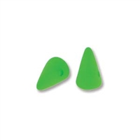 5 x 8mm Czech Pressed Glass Spike Bead- Neon Green