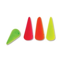 7 x 17mm Czech Pressed Glass Spike Bead- Neon Light Mix
