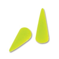 7 x 17mm Czech Pressed Glass Spike Bead- Neon Yellow
